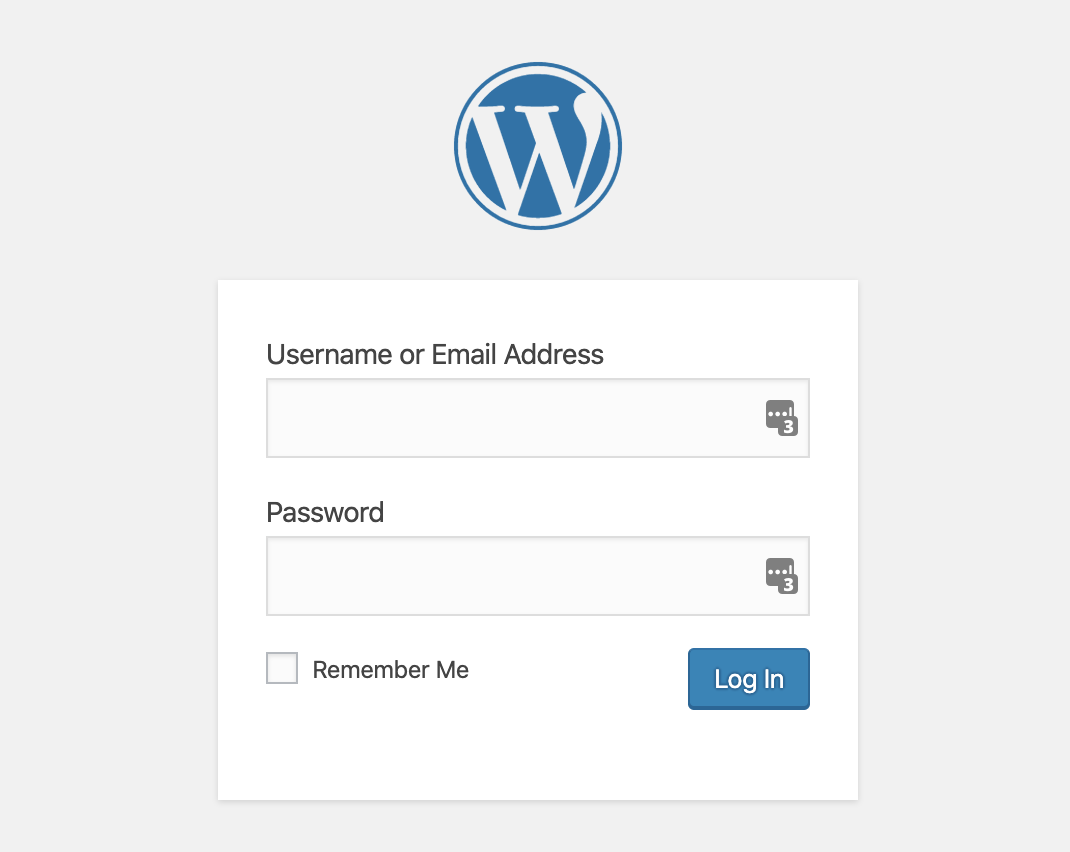 WP Login Message