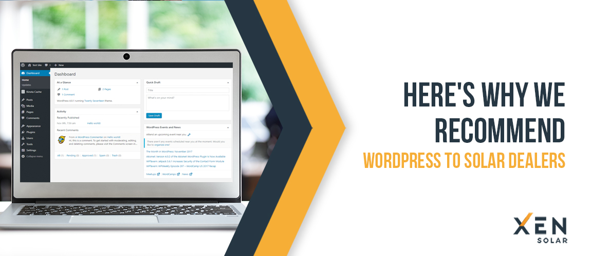 Here's Why We Recommend WordPress To Solar Dealers